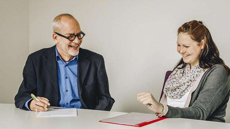Silke Munier im Gespräch mit etem-Redakteur Christoph Nocker.